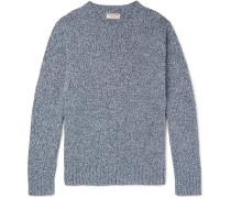 Slim-fit Mélange Recycled Denim Sweater