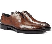 Alessandro Scritto Leather Oxford Shoes