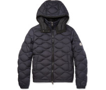 Morandieres Quilted Shell Hooded Down Jacket
