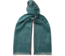 Fringed Cashmere and Silk-Blend Scarf