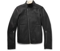 Mollino Slim-fit Shearling Biker Jacket