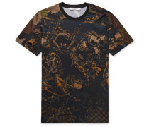 Cuban-fit Printed Cotton-jersey T-shirt