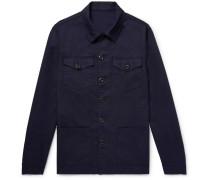 Indigo-dyed Cotton Shirt Jacket