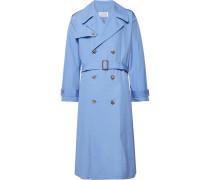 Cotton-poplin Trench Coat - Light blue