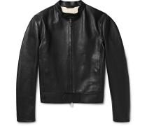 Unlined Leather Biker Jacket