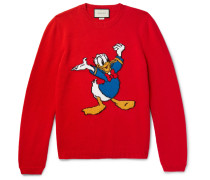 + Disney Appliquéd Intarsia Wool Sweater