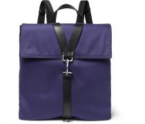 Valentino Garavani Leather-trimmed Canvas Backpack