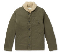 N1 Faux Shearling-trimmed Cotton-twill Jacket