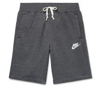 Sportswear Heritage Mélange Loopback Cotton-blend Jersey Shorts