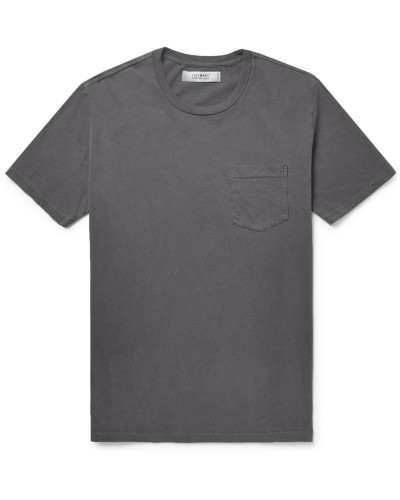 Cotton-jersey T-shirt - Dark gray