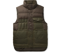 Cruiser Two-Tone Quilted Cotton Down Gilet