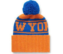 + Nba New York Knicks Intarsia Bobble Hat