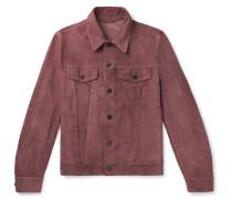 Slim-Fit Suede Trucker Jacket