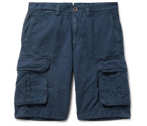 Cotton and Linen-Blend Cargo Shorts
