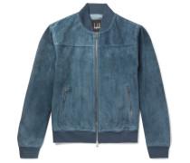 Suede Bomber Jacket - Blue