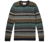 John Striped Brushed Wool Sweater - Multi