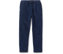Navy Hendry Tapered Cotton-corduroy Drawstring Trousers - Navy