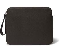 Pebble-grain Leather Ipad Case