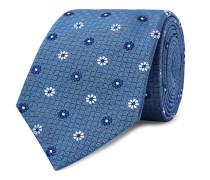 8cm Embroidered Silk-Jacquard Tie