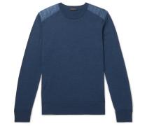 Kerrigan Nylon-panelled Wool Sweater - Blue
