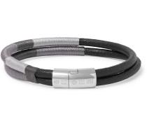 Cobra Masai Leather And Sterling Silver Bracelet - Black