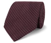 8cm Wool And Silk-blend Tie - Burgundy