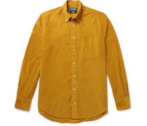 Slim-fit Button-down Collar Cotton-corduroy Shirt - Mustard