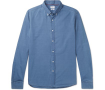 Button-down Collar Cotton-chambray Shirt - Blue