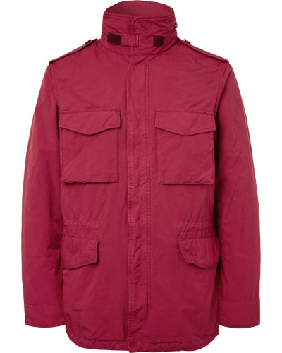 Garment-dyed Shell Field Jacket - Red
