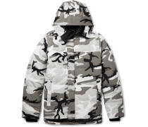 Macmillan Camouflage-print Quilted Shell Down Jacket - Dark gray