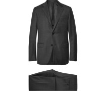 Charcoal Milano Easy Checked Wool Suit - Charcoal