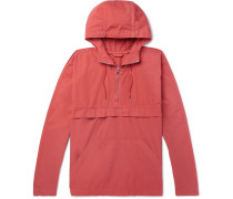 Garment-dyed Cotton Hooded Jacket - Red