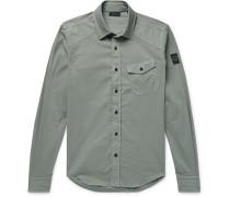 Stretch-cotton Shirt - Sage green
