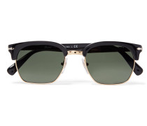 D-frame Gold-tone And Acetate Sunglasses