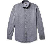 Genova Watercolour-dyed Paisley-print Cotton Shirt