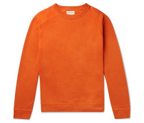 Robin Fleece-back Cotton-jersey Sweatshirt - Orange