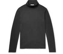Slub Cotton-jersey Rollneck T-shirt