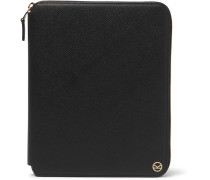 + Smythson Panama Cross-grain Leather Zip-around Portfolio