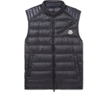 Arv Quilted Shell Down Gilet - Navy