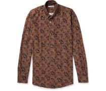 Paisley-print Twill Shirt - Brown