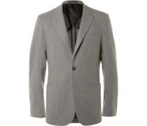 Grey Slim-fit Cashmere Blazer
