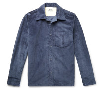 Cotton-corduroy Overshirt - Blue