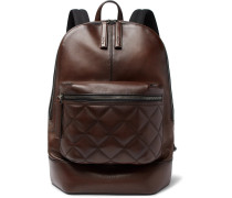 Volume Mm Leather Backpack - Brown