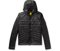 5 Moncler Craig Green Apex Quilted Shell Hooded Down Jacket - Black