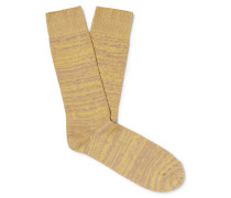 Melangé Cotton-Blend Socks
