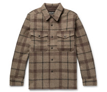 Checked Mackinaw Wool Shirt Jacket