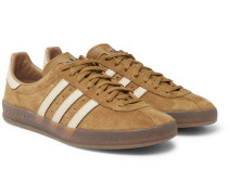 Mallison Spezial Leather-trimmed Suede Sneakers - Brown