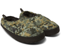 Camouflage-print Quilted Ripstop Primaloft Slippers