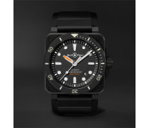 BR 03-92 Diver Automatic 42mm Ceramic and Rubber Watch, Ref. No. BR0392-D-BL-CE/SRB