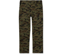 Woodland Camouflage-Print Cotton Trousers